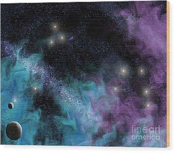 Starscape Nebula Wood Print
