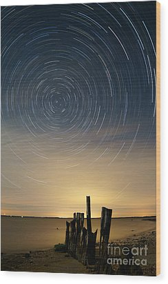 Startrails 2 Wood Print by Benjamin Reed