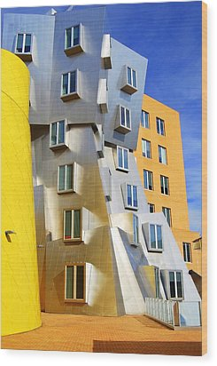 Wood Print featuring the photograph Stata Building At M I T by Caroline Stella