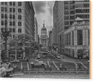 Wood Print featuring the photograph State Capitol Building by Howard Salmon