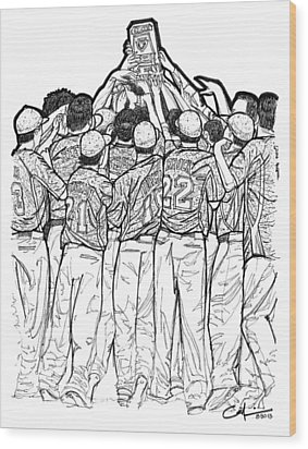 State Champions Wood Print by Calvin Durham