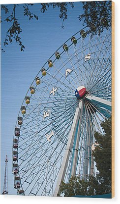 State Fair Time In Texas Wood Print