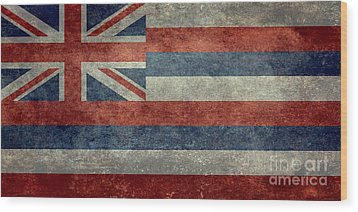 State Flag Of Hawaii Vintage Version Wood Print