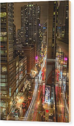 State Street - Chicago - 12-14-13 Wood Print by Michael  Bennett