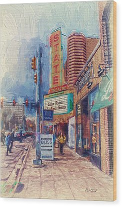 State Street Impasto Wood Print by Pat Cook