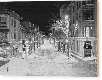 State Street Madison Wood Print