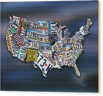 States Wood Print by Robert Smith