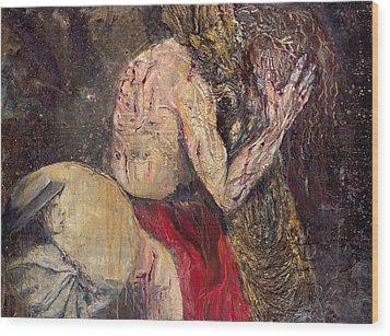 Station II Jesus Receives The Cross Wood Print