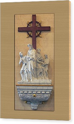 Station Of The Cross 01 Wood Print by Thomas Woolworth