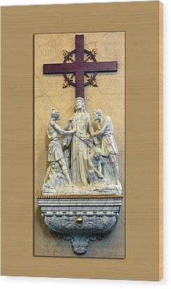 Station Of The Cross 10 Wood Print by Thomas Woolworth
