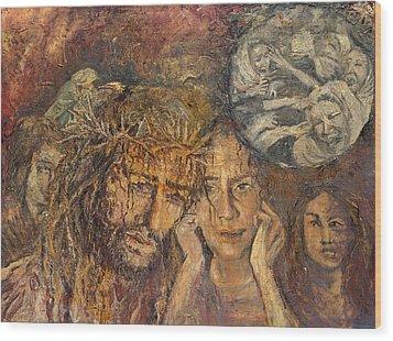 Station Viii Jesus Meets The Women Of Jerusalem Wood Print