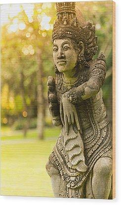 Statue - Bali Wood Print