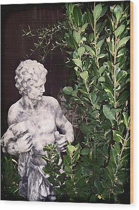 Wood Print featuring the photograph Statue 1 by Pamela Cooper