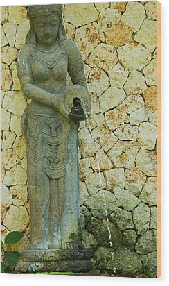 Wood Print featuring the photograph Statue - Bali by Matthew Onheiber