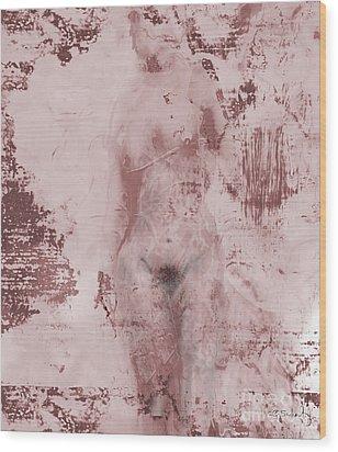 Wood Print featuring the digital art Statue by Gabrielle Schertz