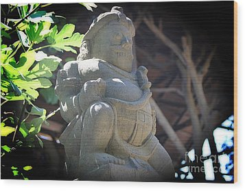 Statue In The Sun Wood Print by Jackie Mestrom