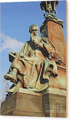 Statue  Kelvingrove Park Glasgow Wood Print by David Davies