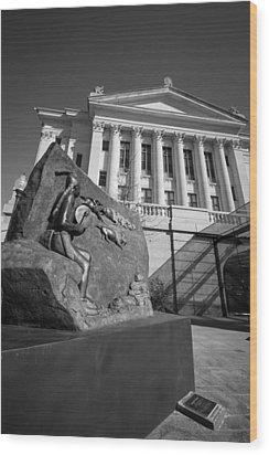 Statue Near The Capital Wood Print