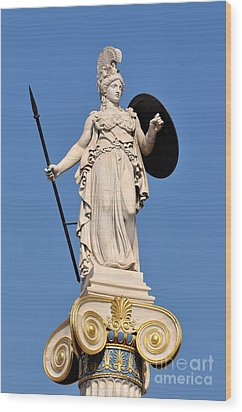 Statue Of Athena Wood Print