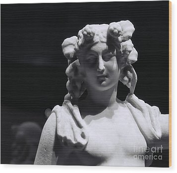 Wood Print featuring the photograph Statue Of Dionysus by Catherine Fenner