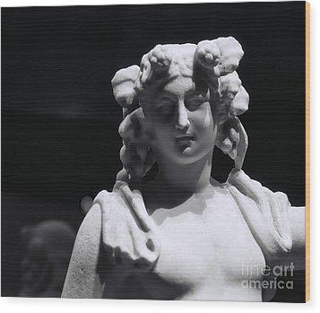 Statue Of Dionysus Wood Print