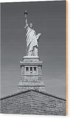 Statue Of Liberty IIi Wood Print by Clarence Holmes