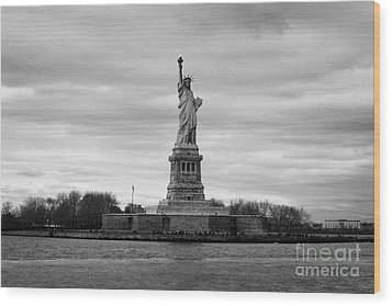 Statue Of Liberty Liberty Island New York City Wood Print by Joe Fox