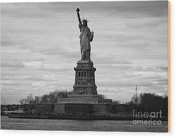 Statue Of Liberty Liberty Island New York City Usa Wood Print by Joe Fox