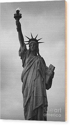 Statue Of Liberty National Monument Liberty Island New York City Nyc Wood Print by Joe Fox