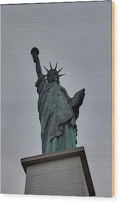 Statue Of Liberty - Paris France - 01131 Wood Print by DC Photographer