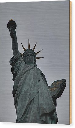 Statue Of Liberty - Paris France - 01132 Wood Print by DC Photographer