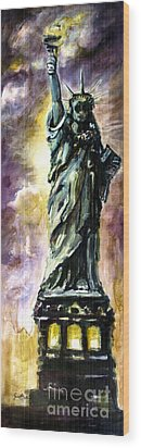 Statue Of Liberty Part 4 Wood Print by Ginette Callaway