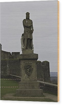 Statue Of Robert The Bruce On The Castle Esplanade At Stirling Castle Wood Print