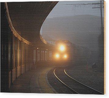 Staunton Virgina Train Wood Print
