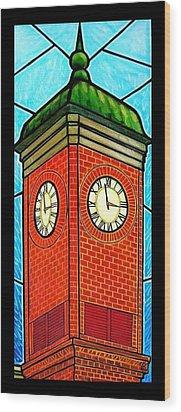 Staunton Virginia Clock Tower Wood Print by Jim Harris
