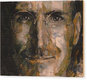 Steve... Wood Print by Laur Iduc