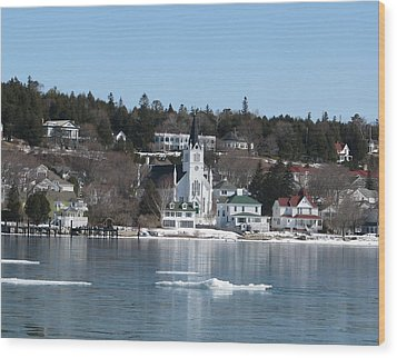 Ste. Anne's Catholic Church On Mackinac Island Wood Print by Keith Stokes