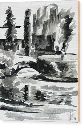 Ste Marie Du Lac Pond And Parish Wood Print by Kip DeVore