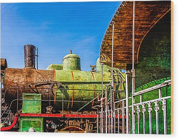 Steam And Iron - Last Station Wood Print by Alexander Senin