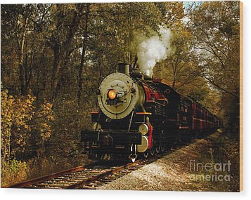 Steam Engine No. 300 Wood Print by Robert Frederick