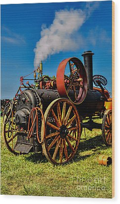 Steam Engine Wood Print