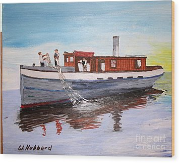 Steam Fishing Tug John Smith Wood Print