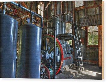 Steam Generator At Koreshan Wood Print by Timothy Lowry