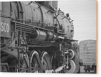 Steam Locomotive 1519 - Bw 02 Wood Print