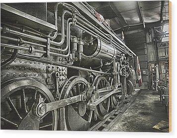 Steam Locomotive 2141 Wood Print by Theresa Tahara
