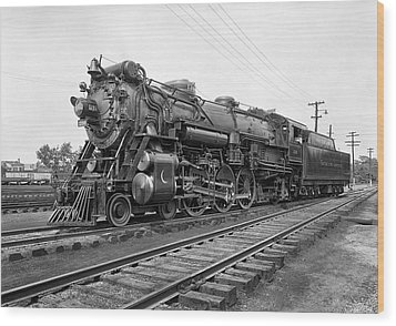 Steam Locomotive Crescent Limited C. 1927 Wood Print by Daniel Hagerman