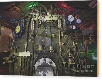 Wood Print featuring the photograph Steam Locomotive Engine by Keith Kapple