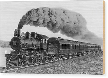 Steam Locomotive No. 999 - C. 1893 Wood Print