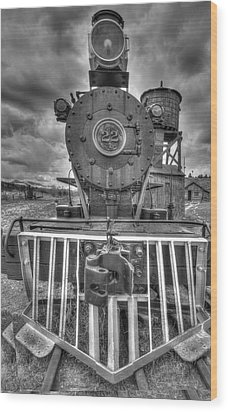 Steam Locomotive Train Wood Print by Al Reiner