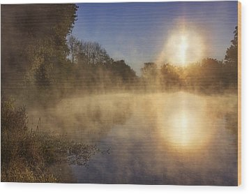 Steam On The Water Wood Print by Jason Politte
